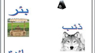 صورة ورقة عمل عن درس الهمزة المتوسطة علي الياء في اللغة العربية للصف الخامس