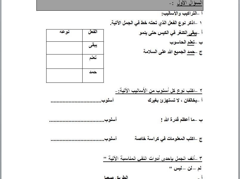 تحديد مستوى العربى