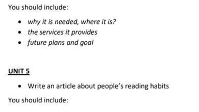 صورة اللغة الإنجليزية (writing review for the final exam) للصف الثاني عشر الفصل الثالث