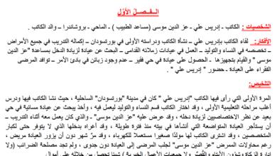 صورة تلخيص رواية قلم زينب في اللغة العربية للصف الثاني عشر الفصل الثالث